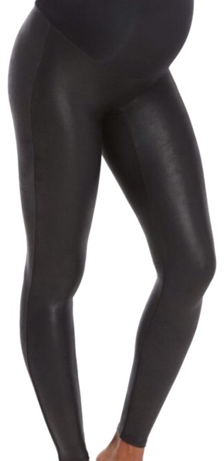 Item - Black Mama Faux Leather Maternity Bottoms Size 4 (S)