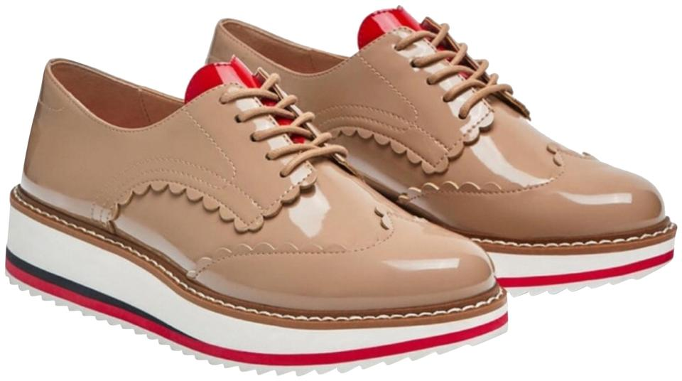 63e77bc2218e Zara Nude-beige Beige Nude Heart Shaped Oxfords with Heats Platform Sneakers