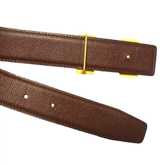 Hermès Constance blue brown leather Circle Z belt gold H buckle reversible size 65 with box Image 5