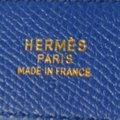 Hermès Constance blue brown leather Circle Z belt gold H buckle reversible size 65 with box Image 7