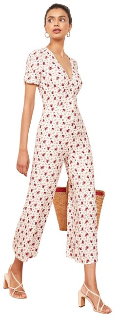 Item - White France Floral Romper/Jumpsuit
