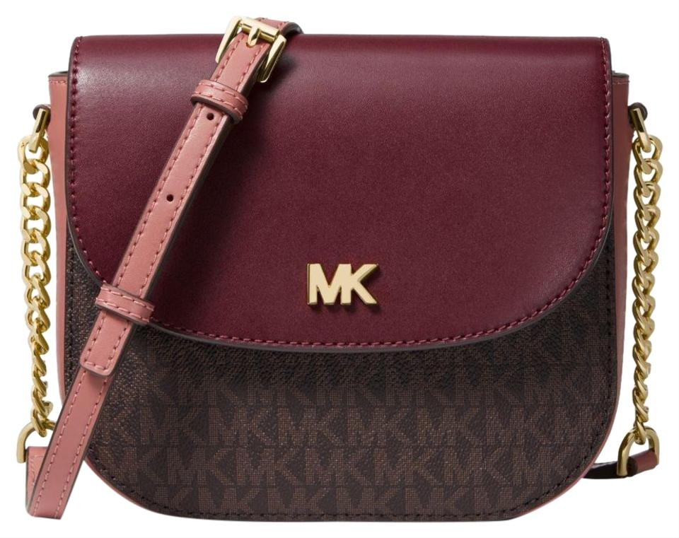 99b56741279b Michael Kors Mott Logo and Two-tone Leather Dome 33h8gf5c1b Multi ...