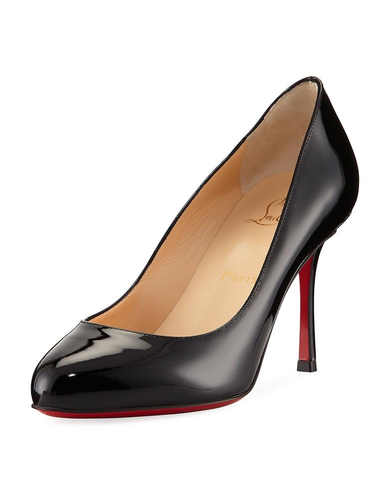 a943fae8dd6 Christian Louboutin Patent Leather Merci Allen 85 Black Pumps Image 0 ...