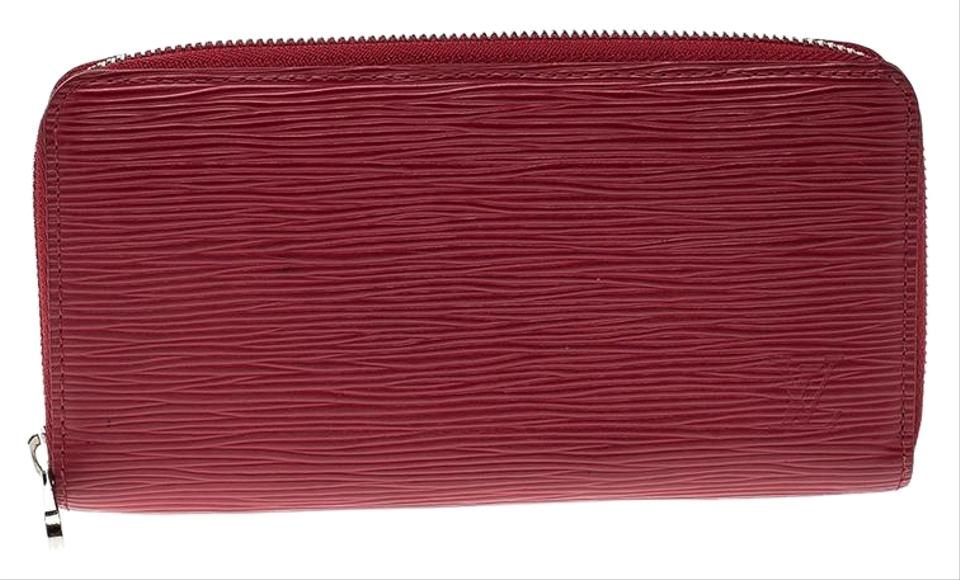 25479caabe91 Louis Vuitton Red Epi Leather Zippy Wallet - Tradesy