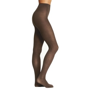 French Curve Cashmere Blend Sheer Camel Tights - S/M