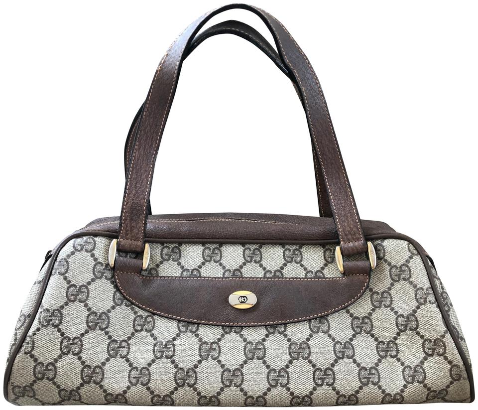 a6cd0241525 Gucci Accessory Collection Made In Italy Monogram Leather Satchel in Brown  Image 0 ...