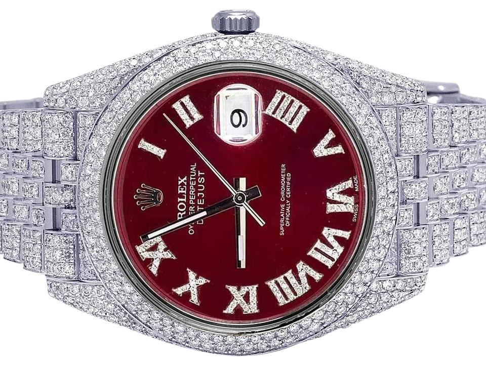 Rolex Stainless Steel Mens Datejust Il 126334 41mm Red ...