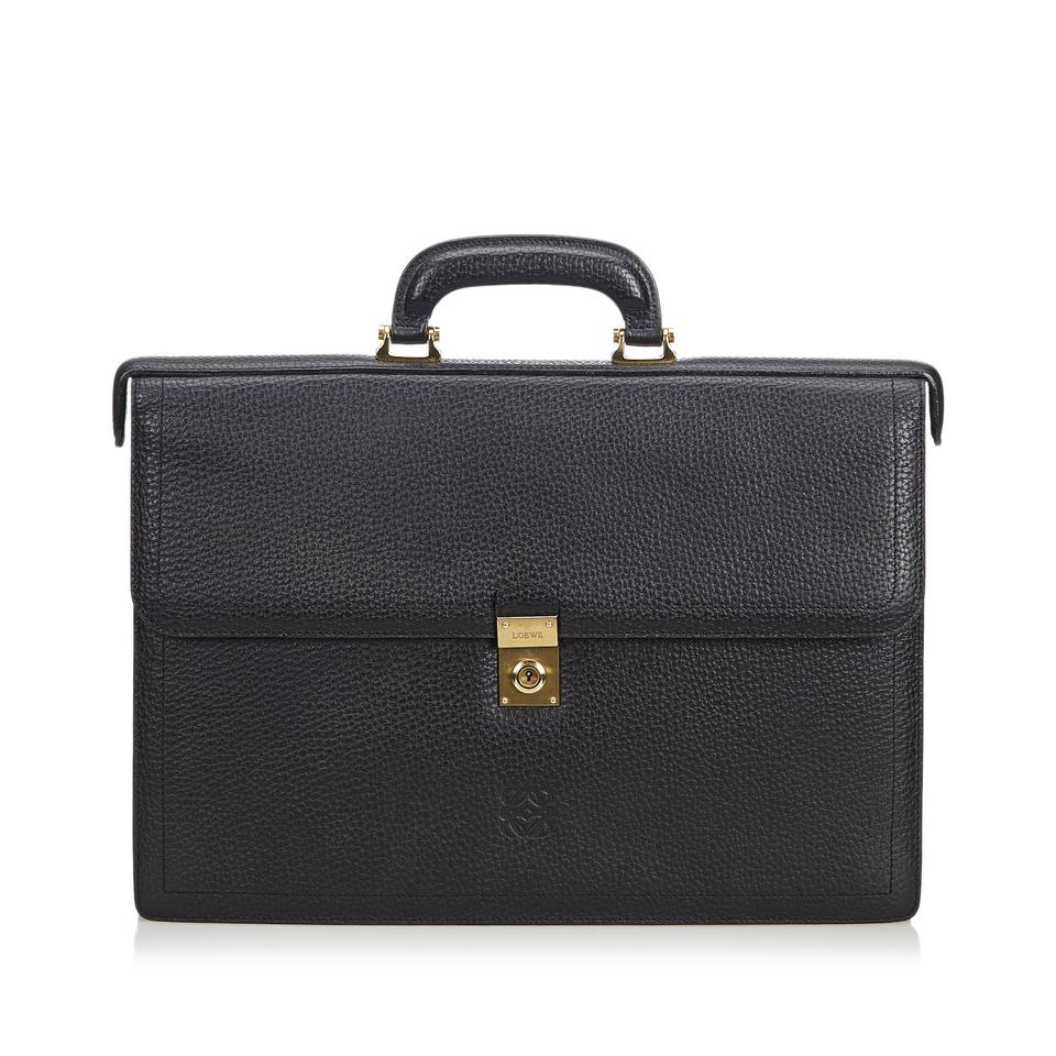 abdf014120c1 Loewe Business Black Leather X Others Laptop Bag - Tradesy