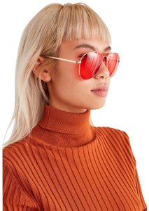 Urban Outfitters Urban Outfitters Road Trip Red Aviator Sunglasses