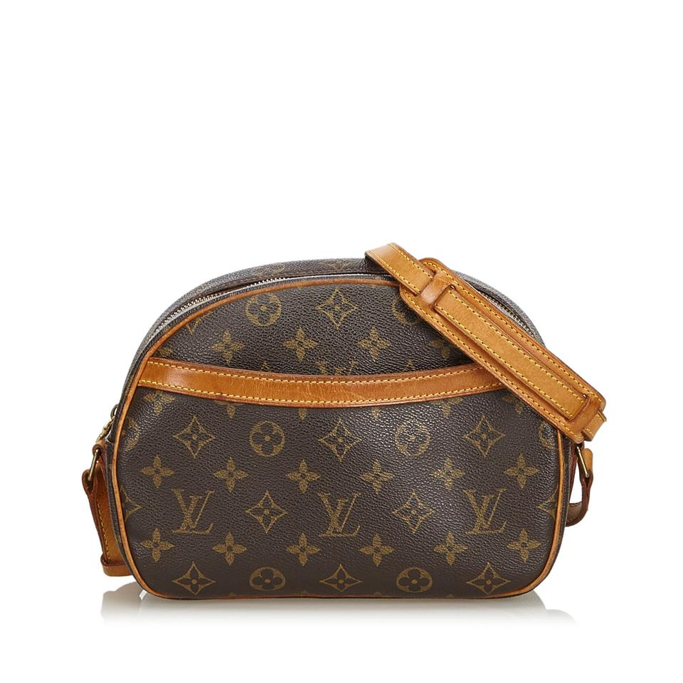 8f2ed36ee640 Louis Vuitton Blois Monogram Brown Coated Canvas Shoulder Bag - Tradesy