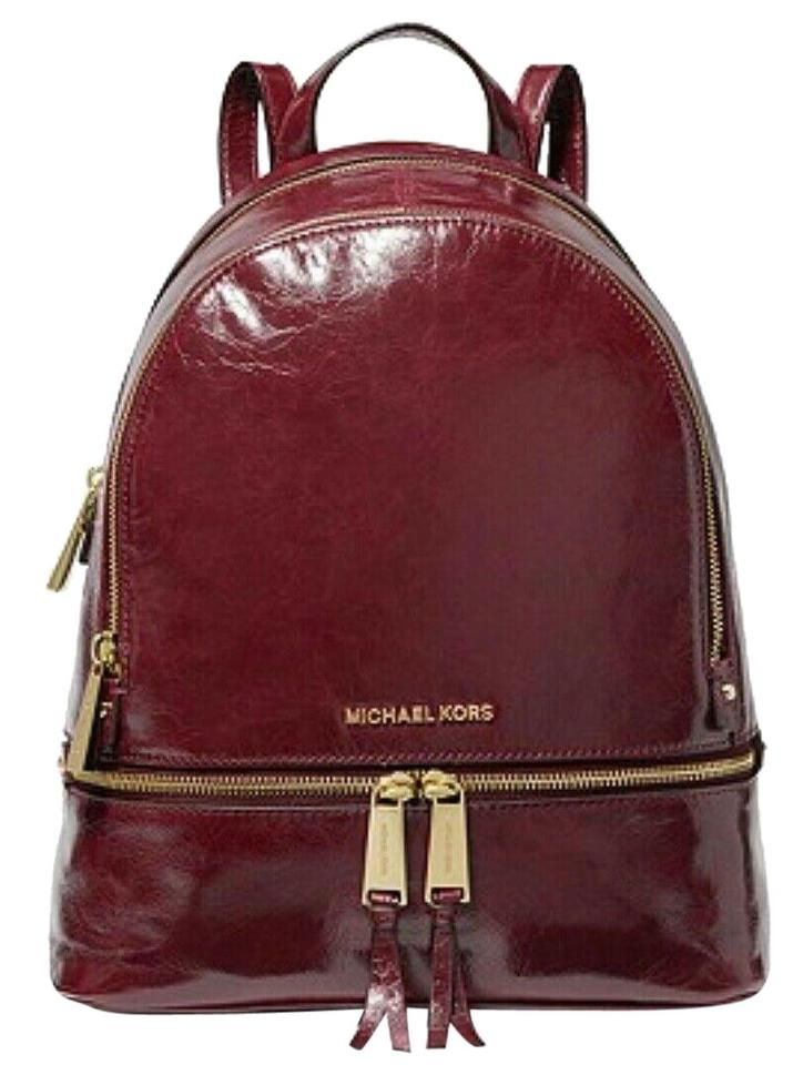 02c11a6668f4 MICHAEL Michael Kors Rhea Medium Crinkled Calf Oxblood Leather ...