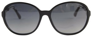 Chanel Chanel Black Round Sunglasses