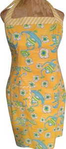 Lilly Pulitzer short dress yellow Halter Halter on Tradesy