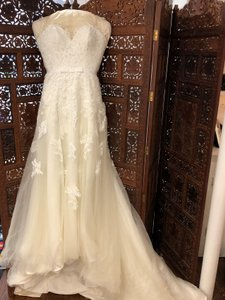 c5a83b8319fa Rosa Clará Ivory Tulle; Lace Two Exuberante Formal Wedding Dress Size 4 (S)