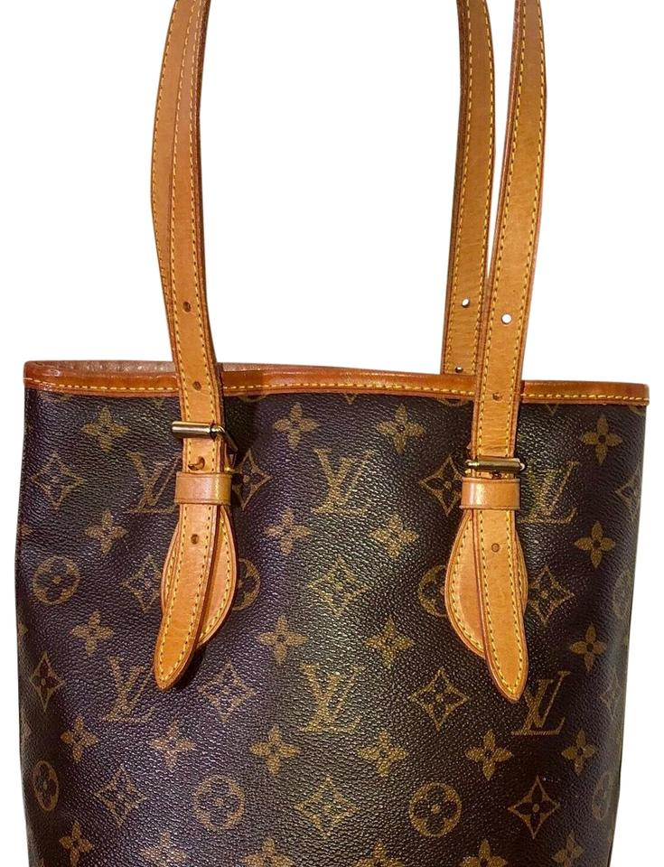 9542bd91c1a0 Louis Vuitton Bucket Pm Monogram Ar1929 Leather Coated Canvas Tote ...