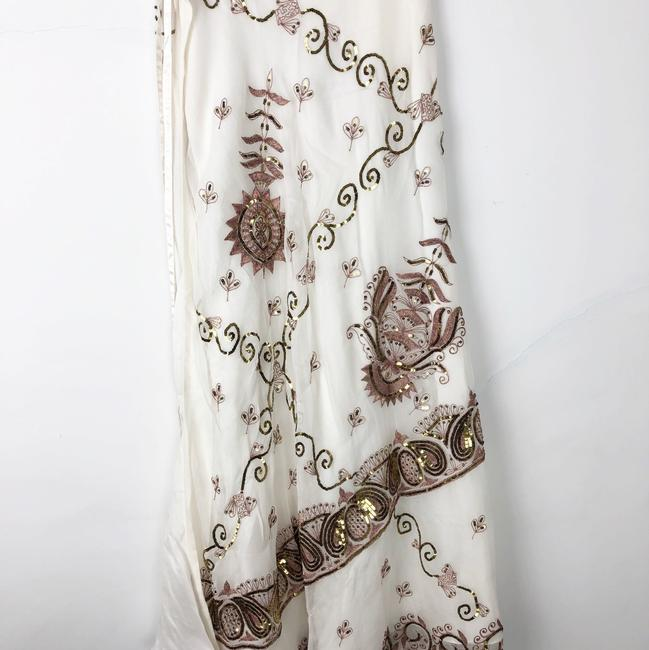 Lotta Stensson Maxi Skirt White and Gold Sequins Image 4