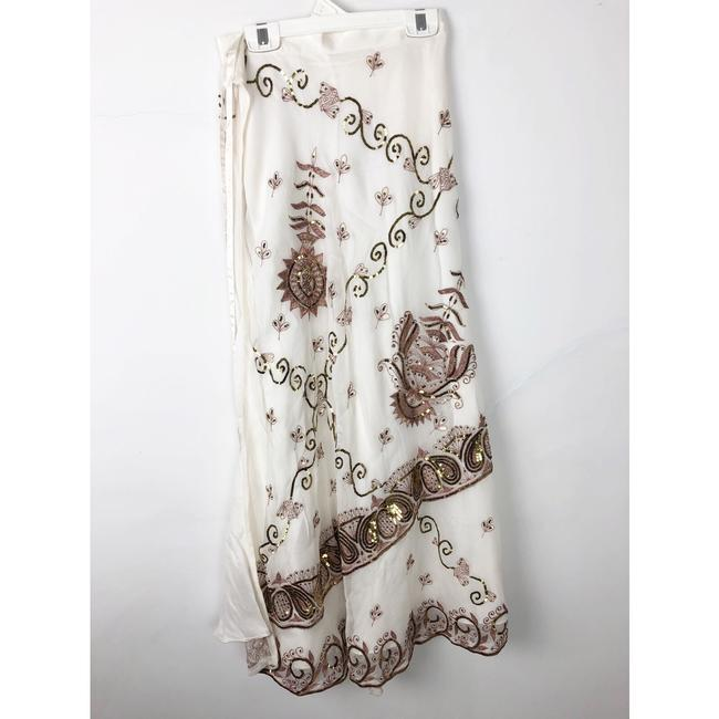 Lotta Stensson Maxi Skirt White and Gold Sequins Image 5