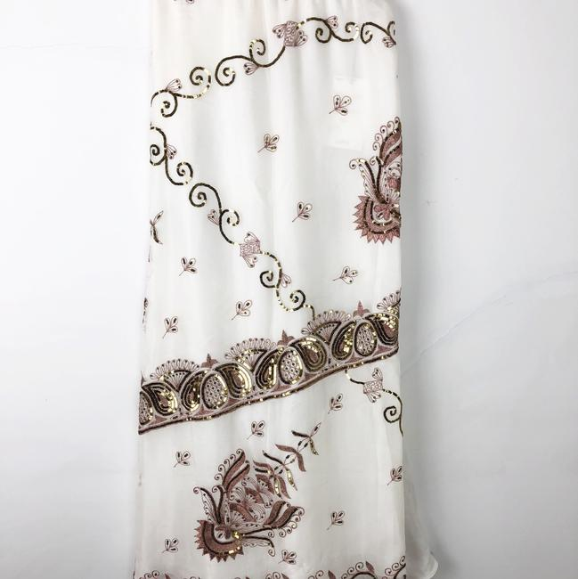 Lotta Stensson Maxi Skirt White and Gold Sequins Image 6