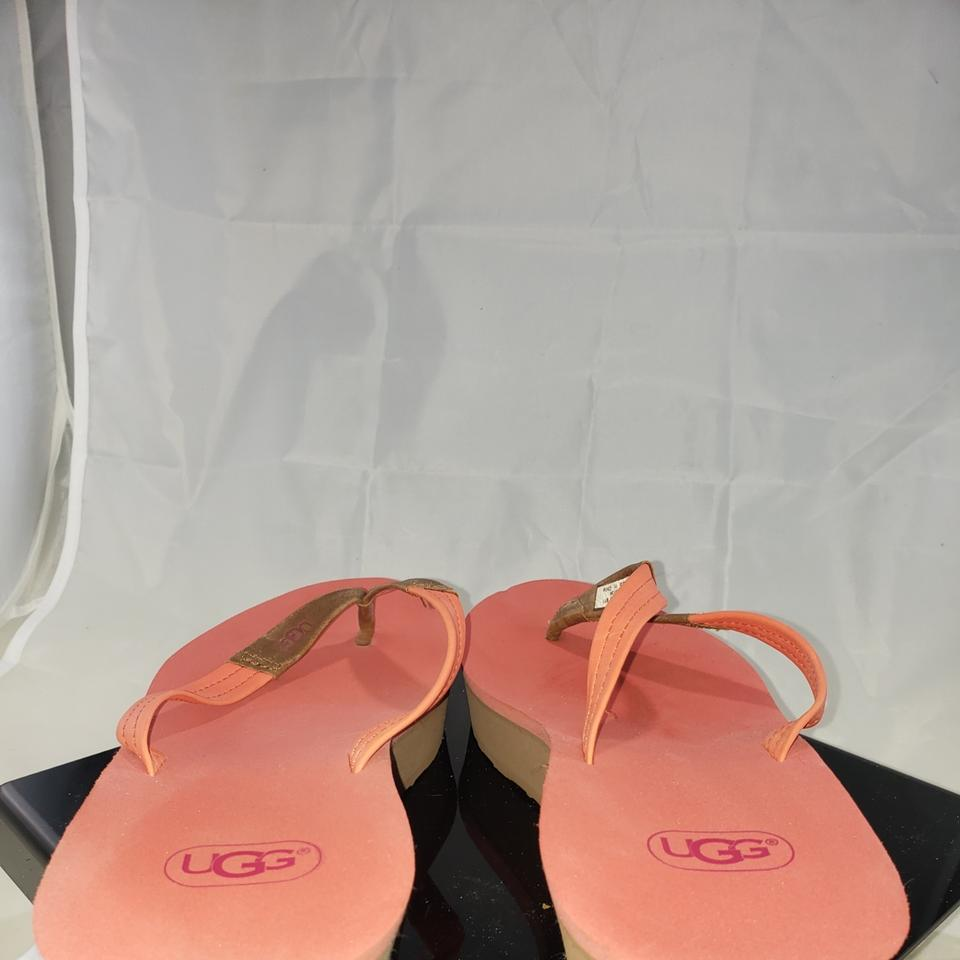 3b28e87cb04 UGG Australia Brown and Peach Pinkish Color Wedge Sandals Size US 10  Regular (M, B) 55% off retail