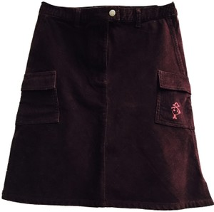 Galeries Lafayette Skirt Wine red