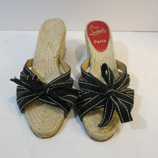 Christian Louboutin Wedge Espadrille Espadrille black Sandals Image 1