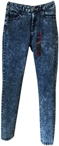 Dollhouse Denim Acid Wash High Waisted Skinny Jeans-Acid