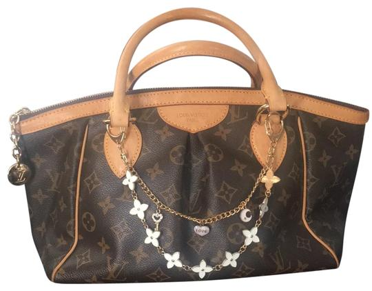 Louis vuitton tivoli pm brown canvas with leather trim and - Louis vuitton fabric for car interior ...