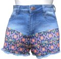 Flying Tomato Billy 85% Cotton 13% Polyester 2% Spandex Cut Off Shorts Blue Image 0