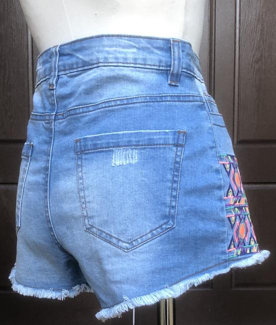 Flying Tomato Billy 85% Cotton 13% Polyester 2% Spandex Cut Off Shorts Blue Image 5