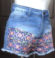 Flying Tomato Billy 85% Cotton 13% Polyester 2% Spandex Cut Off Shorts Blue Image 7