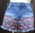 Flying Tomato Billy 85% Cotton 13% Polyester 2% Spandex Cut Off Shorts Blue Image 8