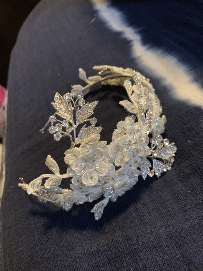 Silver and Ivory Headband Hair Accessory Image 0