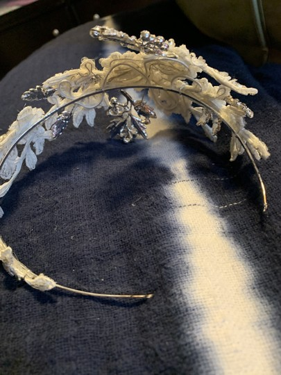 Silver and Ivory Headband Hair Accessory Image 2