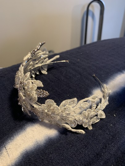 Silver and Ivory Headband Hair Accessory Image 3