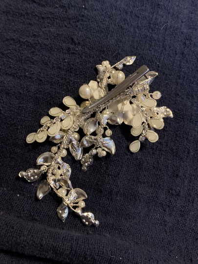 Silver and Ivory Clip Hair Accessory Image 1
