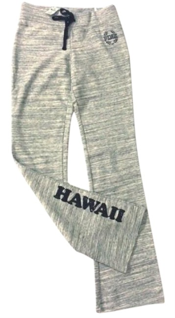 Item - Marled Gray Vs Sequin Bling Uh Hawaii Flare Activewear Bottoms Size 14 (L)