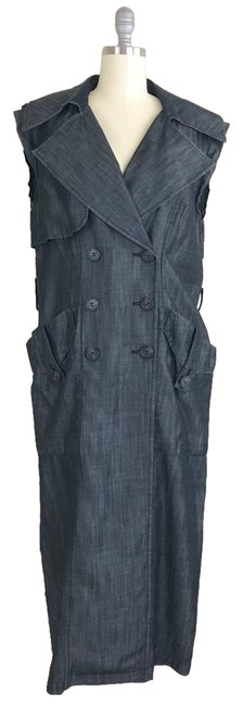Preload https://img-static.tradesy.com/item/24919064/bcbgeneration-denim-chambray-long-trench-vest-size-2-xs-0-1-650-650.jpg