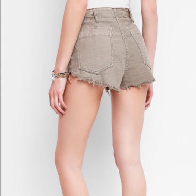 Free People Cut Off Shorts Beige Image 1