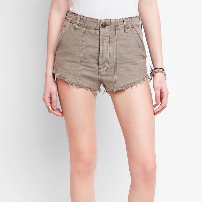 Free People Cut Off Shorts Beige Image 2