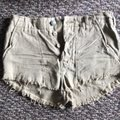 Free People Cut Off Shorts Beige Image 3