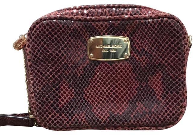 Item - Red Leather Cross Body Bag
