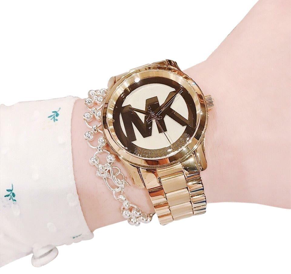 3978427c03e8 Michael Kors Gold Gold-tone Runway Midsized Mk5786 Watch - Tradesy