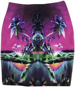 Motel Rocks Becka Night Out Bodycon Mini Skirt Pink