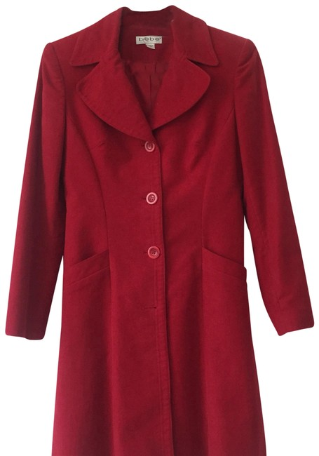 Preload https://img-static.tradesy.com/item/24919408/bebe-red-coat-size-2-xs-0-1-650-650.jpg