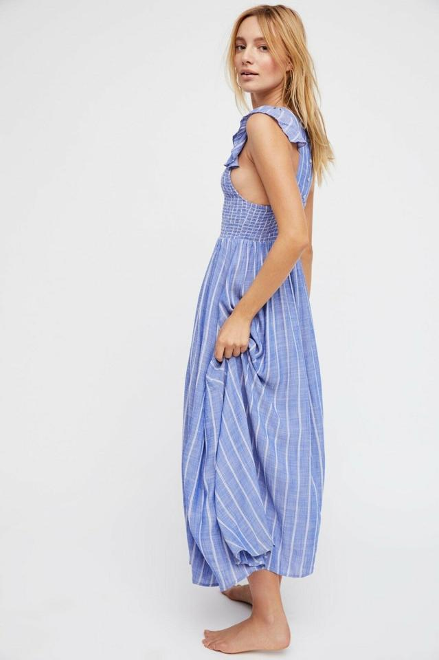 2c73faf24d53 Free People Blue Chambray Butterflies Midi Long Casual Maxi Dress ...
