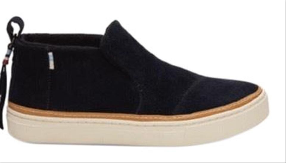 b7d4db987a1 TOMS Black Suede Paxton Slip-ons Water Resistant Flats Size US 9.5 ...