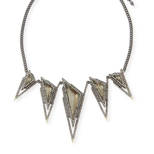 Alexis Bittar Crystal Stepped Pyramid Collar Necklace