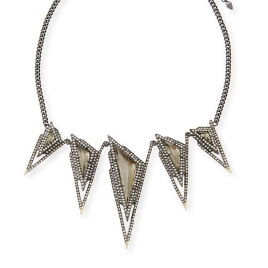 Alexis Bittar Crystal Stepped Pyramid Collar Necklace Image 0