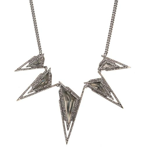 Alexis Bittar Crystal Stepped Pyramid Collar Necklace Image 1