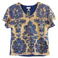 Tracey Reese Top Blue / Tan